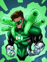 Green Lantern Gun Ready by MarcBourcier