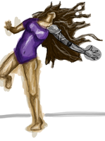 Rae. Coloredish. WIP. by fearsmeltaway