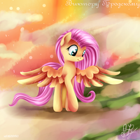 Fluttershy walks. by Ogniva
