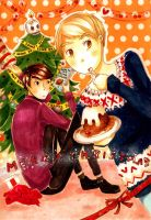 Christmas postcard-sherlock- by Kero375