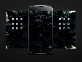 Android Nexus 4 Homescreen by doumer