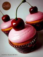 Cherry Vanilla Faux Cupcake by CreativeAbubot