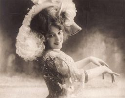 Vintage edwardian actress Miss Held by MementoMori-stock