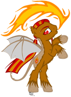 Fire Blood for MLPO-MyLittlePonyOC by MissiTofu