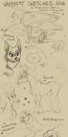 Animal Sketches 2016 by VanyCat