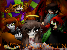 Behind the Wall-Halloween by Faith-Wolff