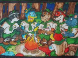 Scout camping by Krunchycroc