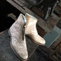 Outsider boots almost done 1 by RomeTheArtist