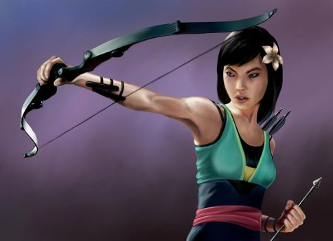 Princess Avengers: HAWKEYE by Christopher-Stoll