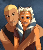 Rex and Ahsoka - Smile by lledra