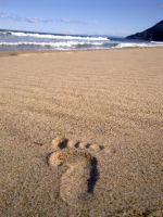 Footprints In The Sand by PhotElle