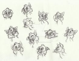 Cat Facial Expressions sketch by Animator-who-Draws