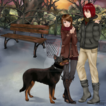 Hundespaziergang (Castiel und Marichan) by The-Last-Teabag