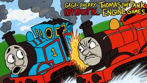 Thomas the Tank Games Gaga + Cherry Faff About In by GagaMan