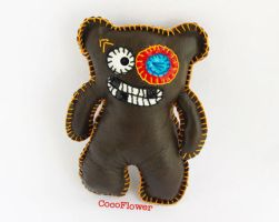 Ugly bear with black eye by coco-flower