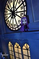 Rider on Clock Tower by gale015