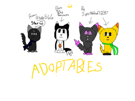 My Adoptables I Got, And Future Characters :) by StripeKatOwO