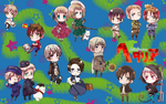 Hetalia Chibis Wallpaper by SacredLugia