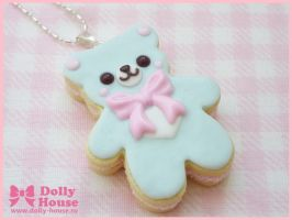 Sweet Cookie Bear Necklace by Dolly House by SweetDollyHouse
