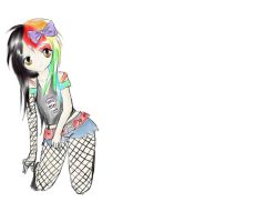 Rainbow Emo Girl by SpandexMarmalade