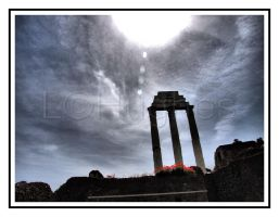 Three Columns Stand HDR by lehPhotography