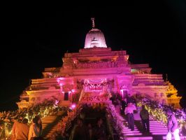 Dharmachakra Tirth Main Temple Light Effect 4 by sds49in