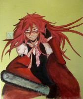 Grell on the wall by OriginalUniqueSoul