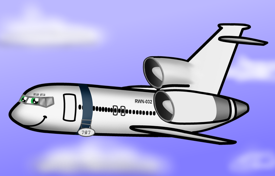 (with speedvideo)Chibi Rowan the 727-100 by WindyThePlaneh