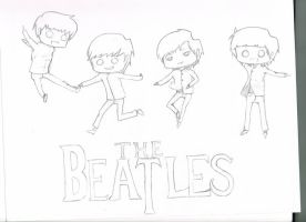 Day 1 .:The Beatles by Drawing-Rainbow