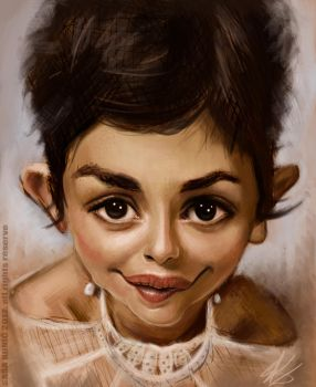 Audrey Tautou caricature by SigmaK