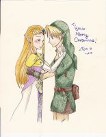 Link and Zelda by liltrix7
