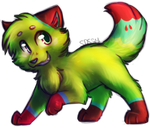 Green Doge -Commish- by Spottedfire-cat