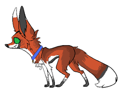Josh's new pet fox by N-i-s-h-ka
