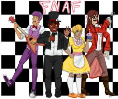 FNAF crew by TheHeadlessArtistart