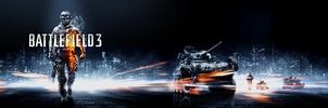 BF3 Wallpaper Soldier Left -Dual Monitor- by wirrew