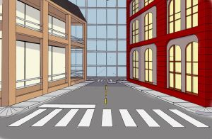 City streets by S-3-AN