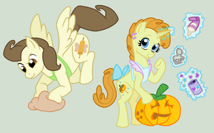MLPFiM: Grown Up Pound and Pumpkin Cake by AjnosFTW