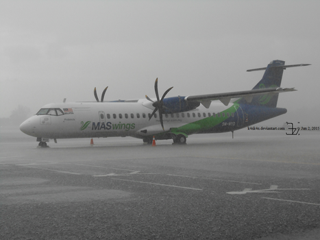 Plane 20150602 _ ATR in the rain by K4nK4n