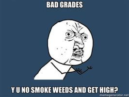 Y U NO Bad grades by ShyGuy101