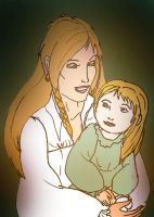 Bree and her daughter by Selinelle