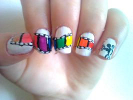 Filmstrip Nail Design by Experimently-Bernsie