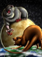 When giant rodents battle by chaypeta