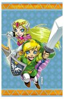 LoZ: ST - Link and Zelda by DreamworldStudio