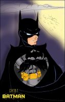 Chibi Batman by JustPlainJoe