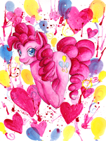 Day 26: Pinkie Pie by EmBBu-chan