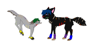 Wolf and dragon dog adopts by SeimeiTokoto