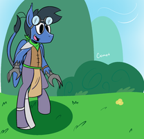 The Walking Horse by CometPegasus