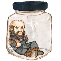 Bottled Dwarves - Dwalin: Cookie Jar by pzhika2dkosametchori