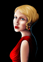 Girl with the ruby earring by KnavesAndKnots