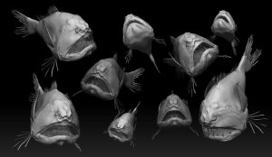 Common Fang Tooth Fish Study by JordanPierreAG